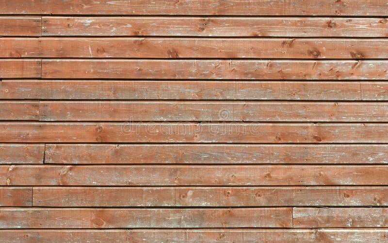 Gammal träbrun väggtextur arkivfoton