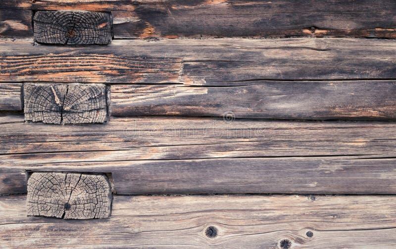Gammal trästrålvägg textur Bakgrund arkivfoton