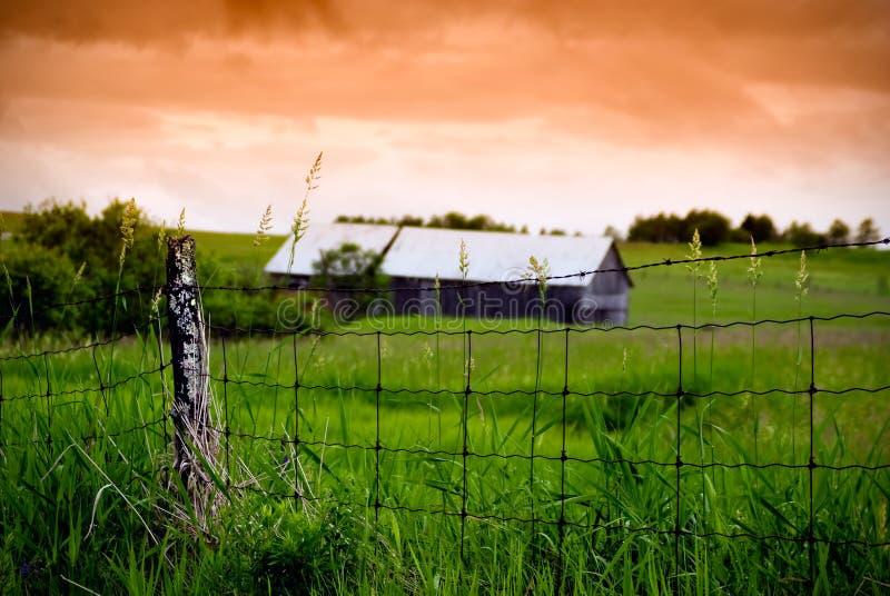 gammal tråd för ladugårdstaket arkivfoto