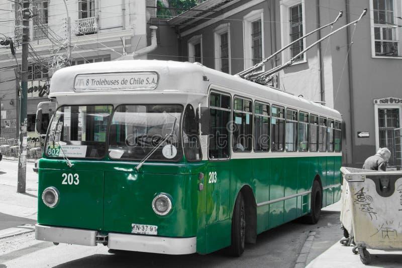 Gammal trådbuss arkivfoto