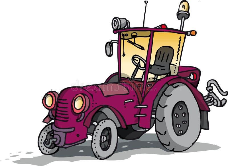 Gammal traktor vektor illustrationer