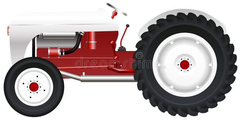 Gammal traktor royaltyfri illustrationer