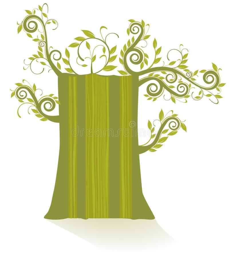 gammal tree royaltyfri illustrationer