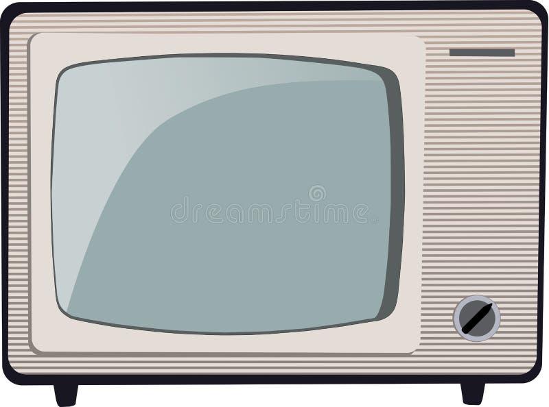 Gammal TV royaltyfri illustrationer