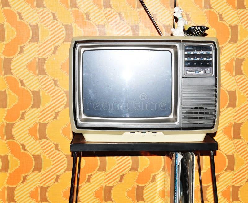 Gammal TVuppsättning royaltyfria bilder