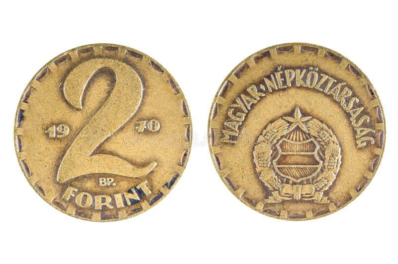Gammal ungersk forinta för mynt 2 1970 royaltyfri bild