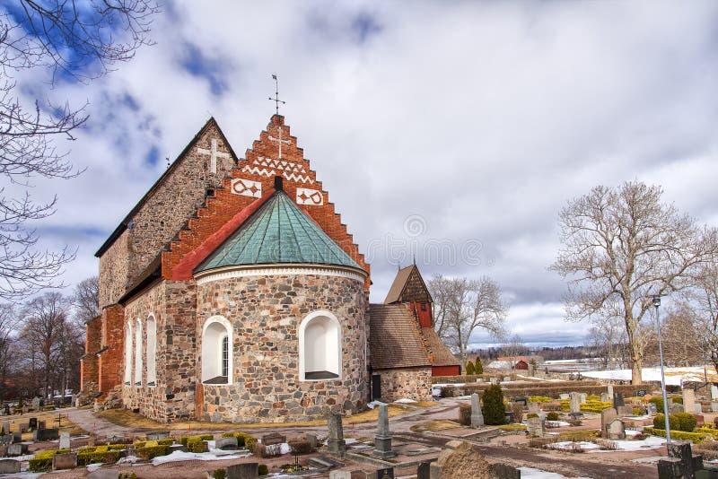 Gammal Uppsala kyrka arkivfoto