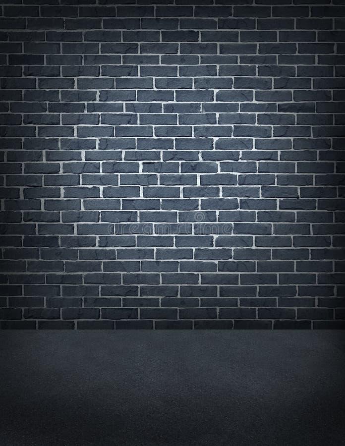 Gammal utomhus- tegelstenvägg royaltyfria foton