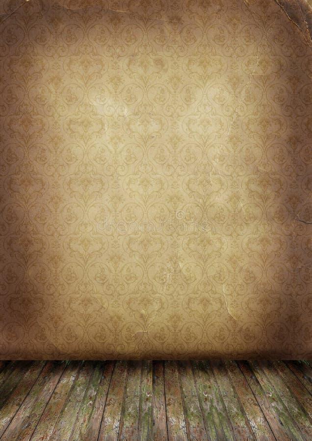 gammal vägg för golv stock illustrationer