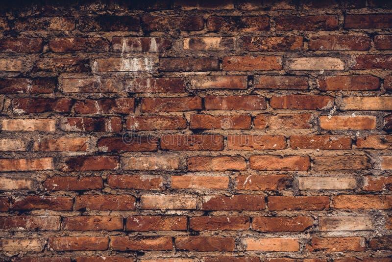 gammal vägg för tegelstengrunge arkivbild