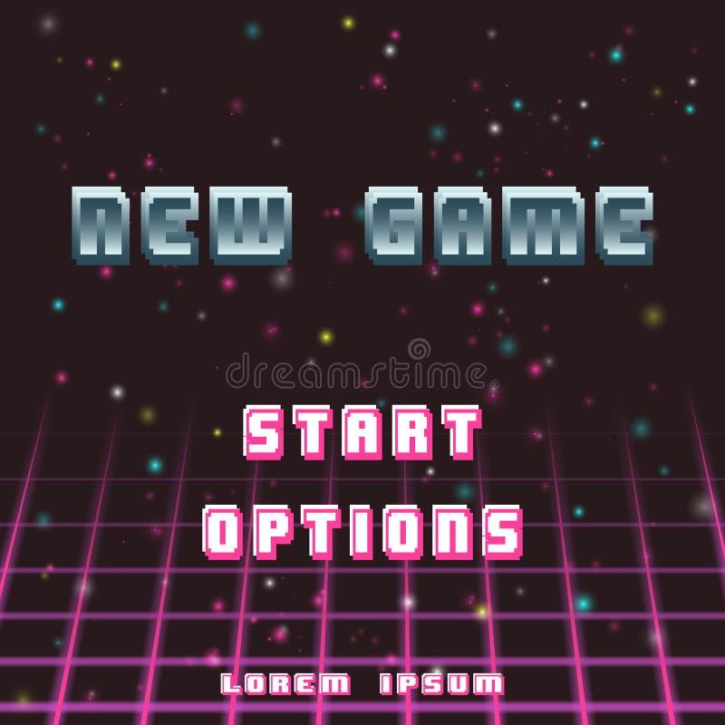Gammal videospelbakgrund stock illustrationer