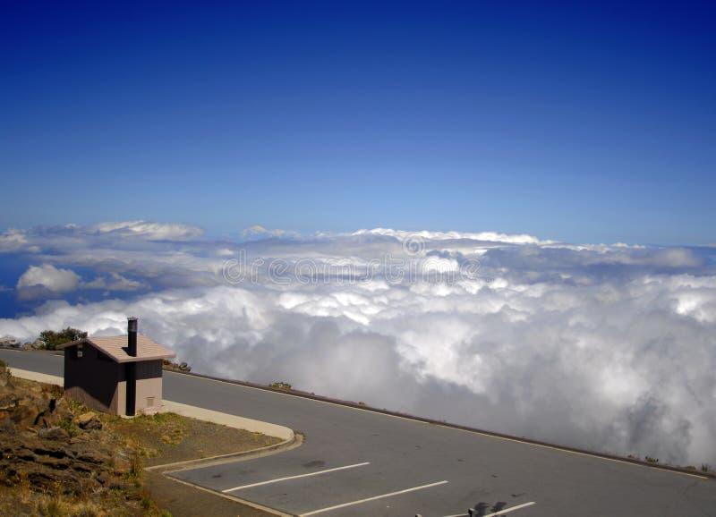 gammal Viewpointvulkan för haleakala royaltyfri bild