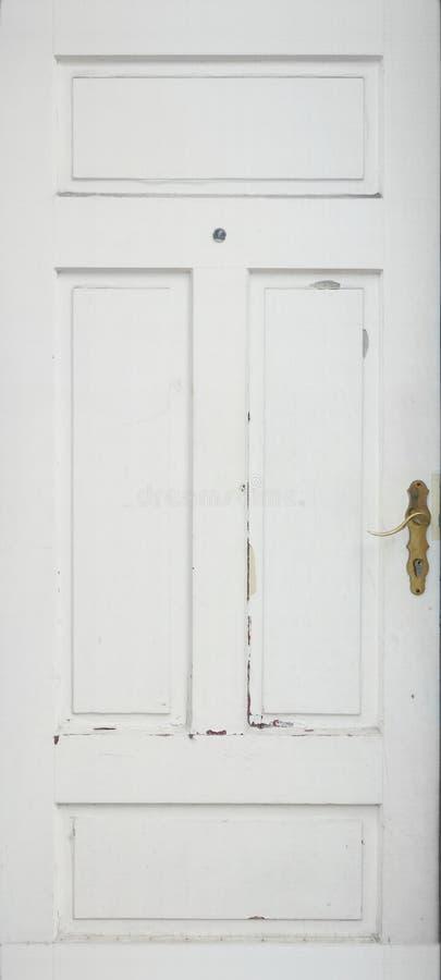 Gammal vit dörr royaltyfri foto