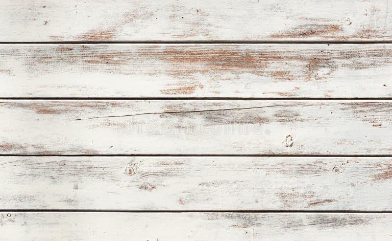 Gammal vit sjaskig träbakgrundstextur, närbild royaltyfri foto