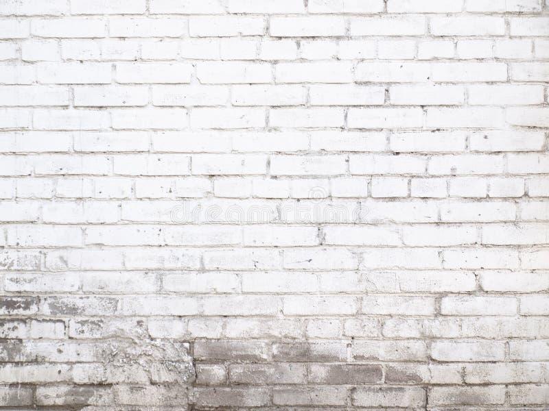 Gammal vit textur för tegelstenvägg för bakgrund som är klar för produktdi royaltyfri bild