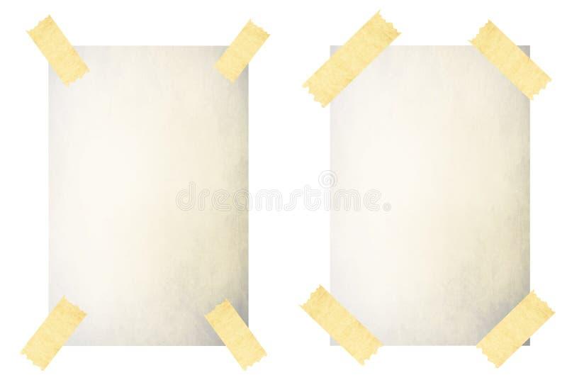 Gammal vitbok med bandet - vektor vektor illustrationer