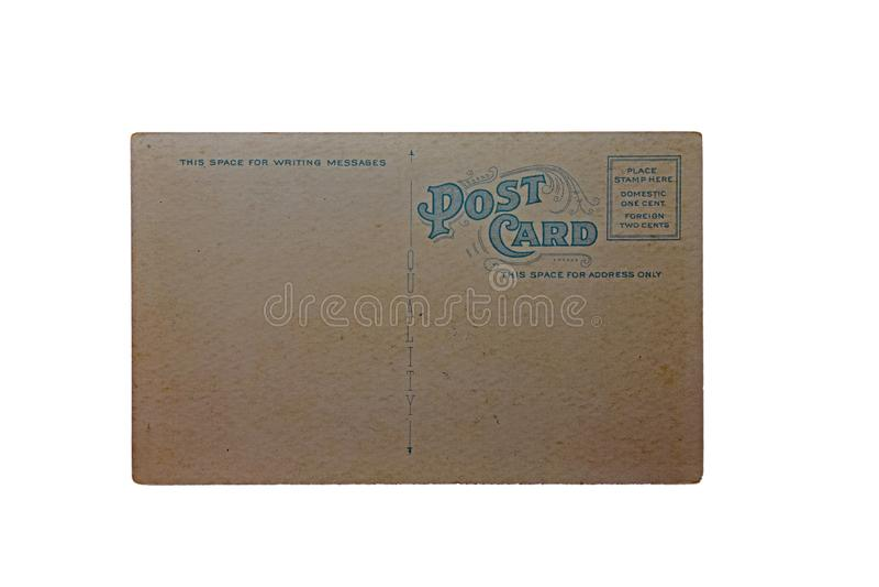 Gammal vykortCarte Postale arkivfoto