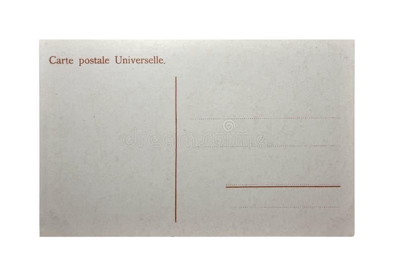 Gammal vykortCarte Postale royaltyfria foton