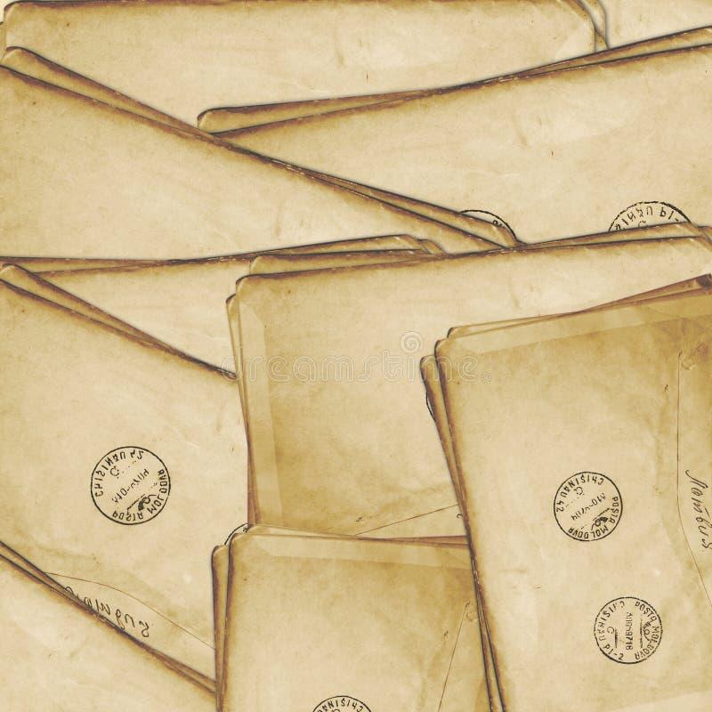 gammal vykorttappning för åldrig bakgrund stock illustrationer