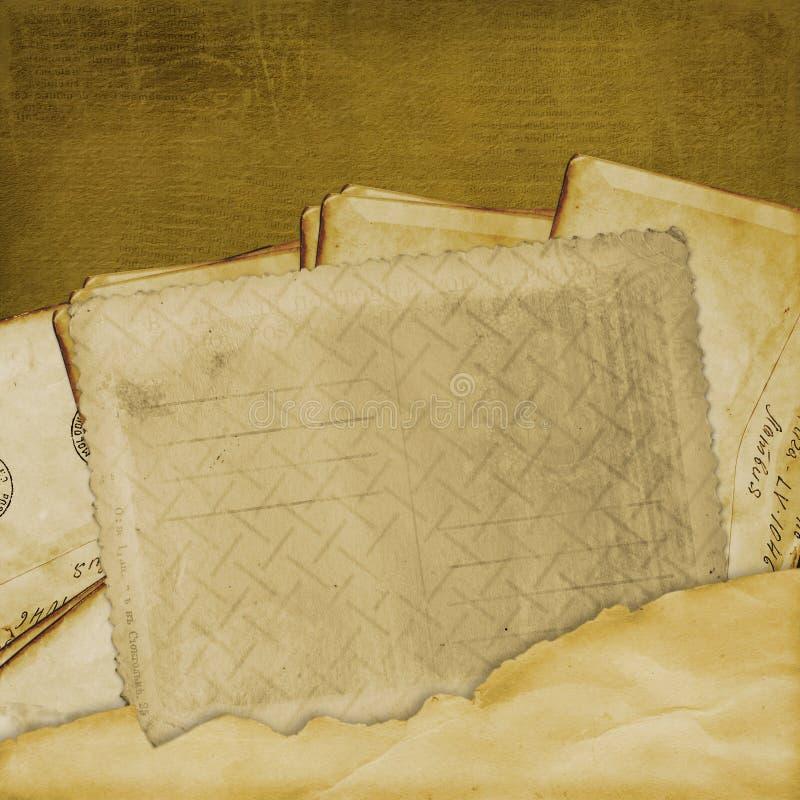 gammal vykorttappning för åldrig bakgrund royaltyfri illustrationer
