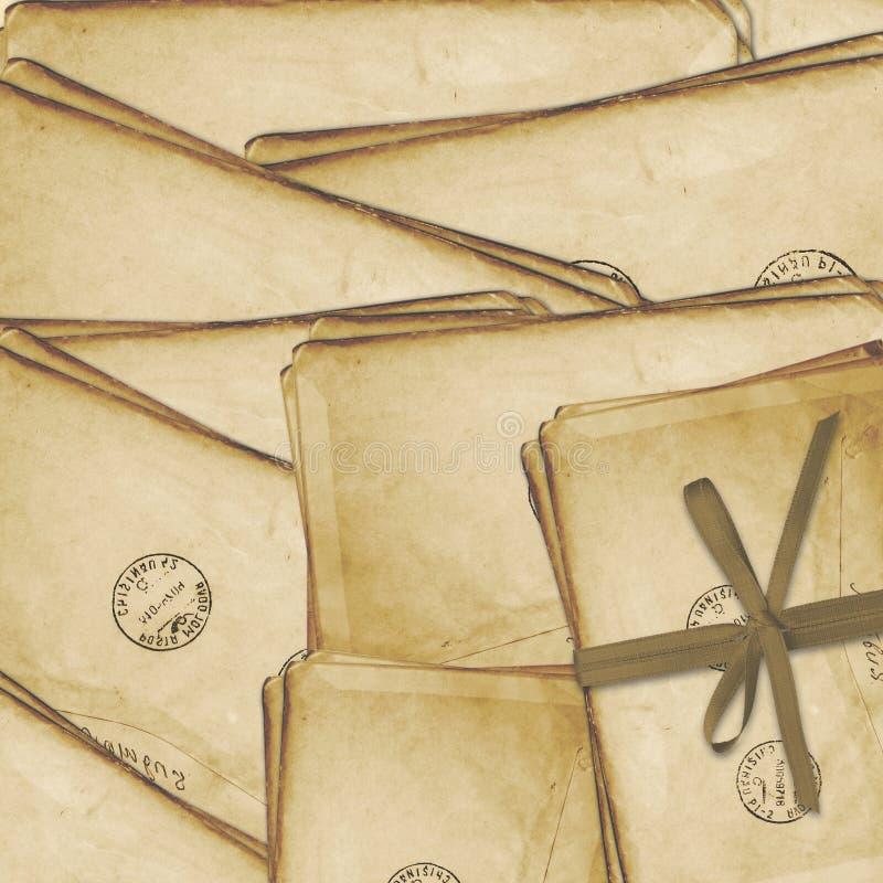 gammal vykorttappning för åldrig bakgrund vektor illustrationer
