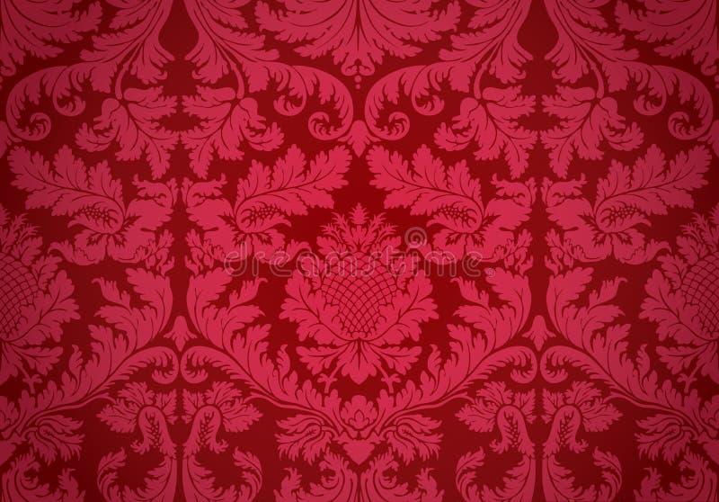 Gammal wallpaper. Vektor. vektor illustrationer
