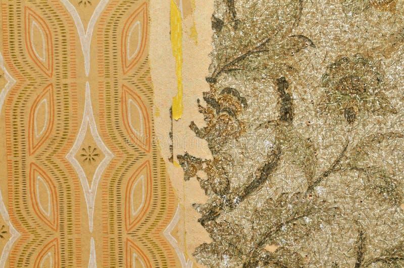 Gammal wallpaperbakgrund arkivbilder