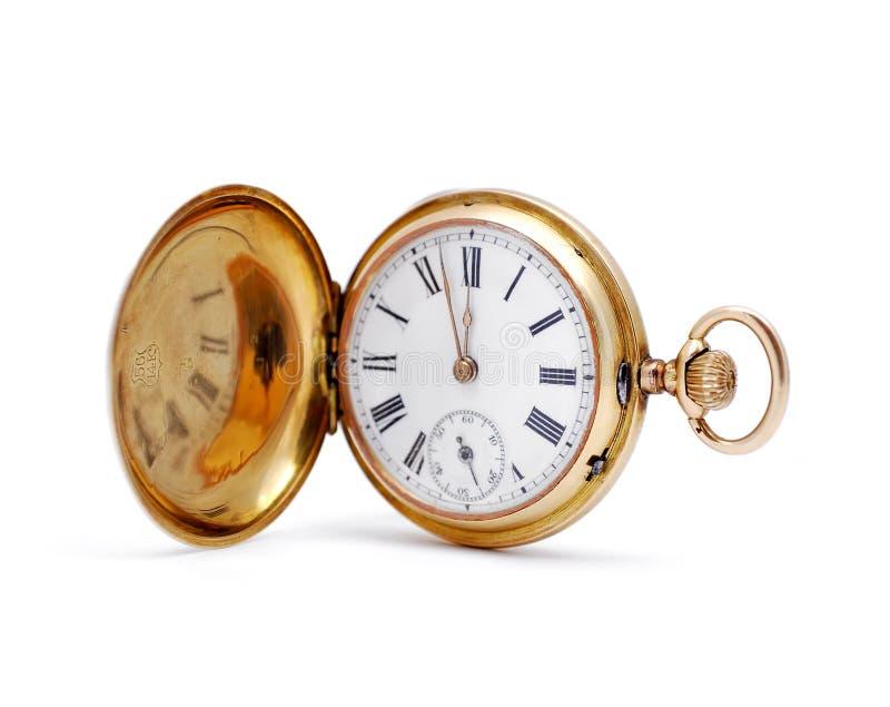 gammal watch för guld royaltyfri fotografi