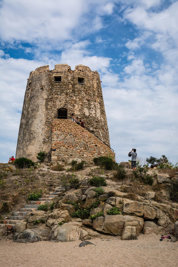 gammal watchtower royaltyfria foton