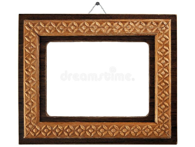 Gammal wood ram med en enkel prydnad fotografering för bildbyråer