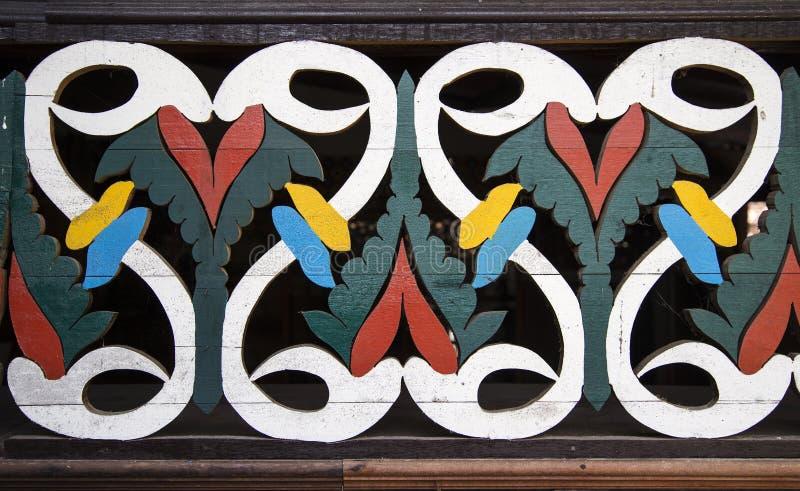 Gammal wood stencil arkivfoton