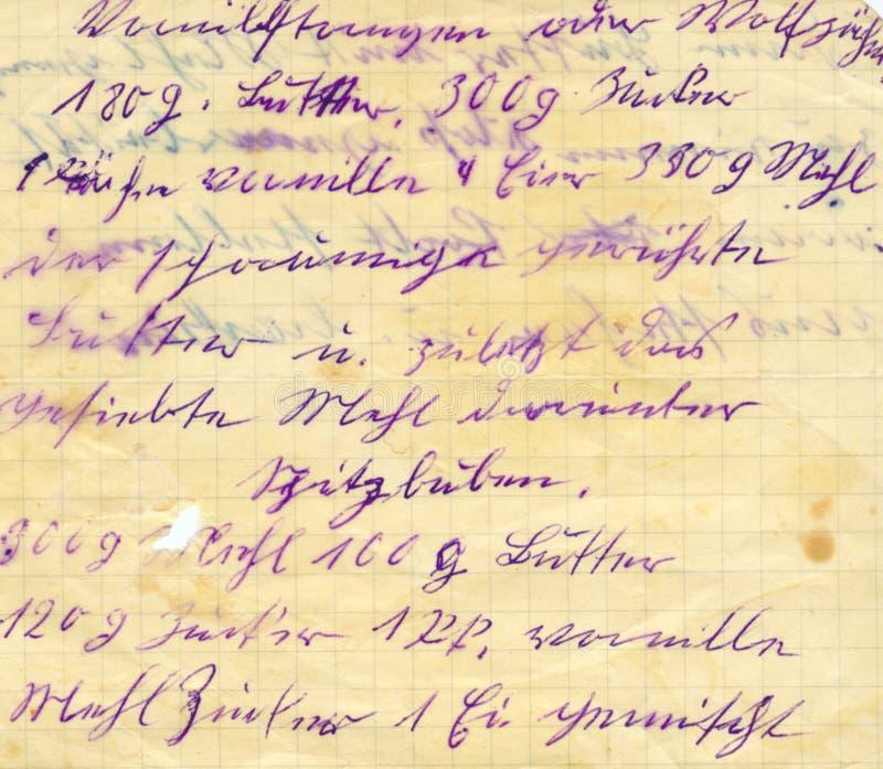 gammal writing arkivbild