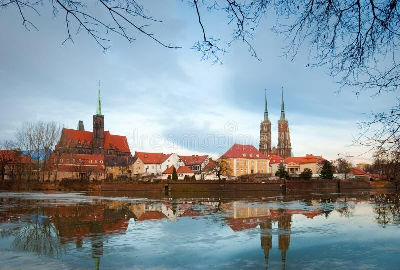 gammal wroclaw för stad royaltyfri fotografi