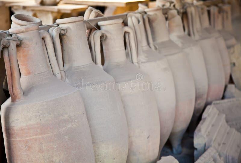 gammala amphoras arkivbilder