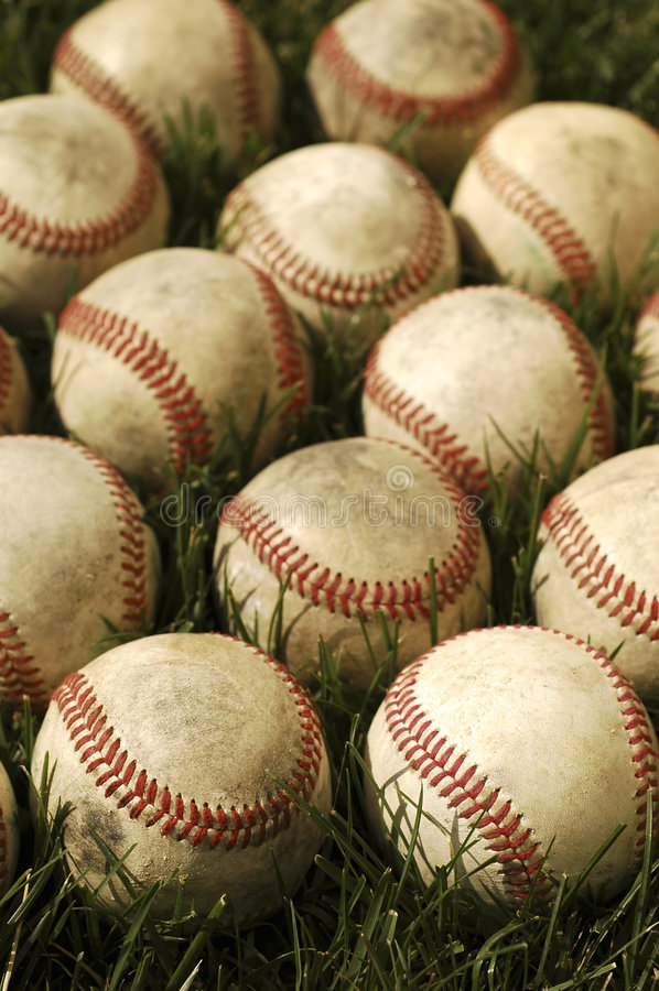 gammala baseball royaltyfri fotografi