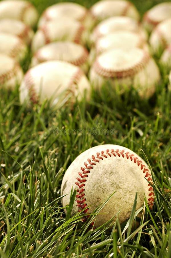 gammala baseball royaltyfri foto