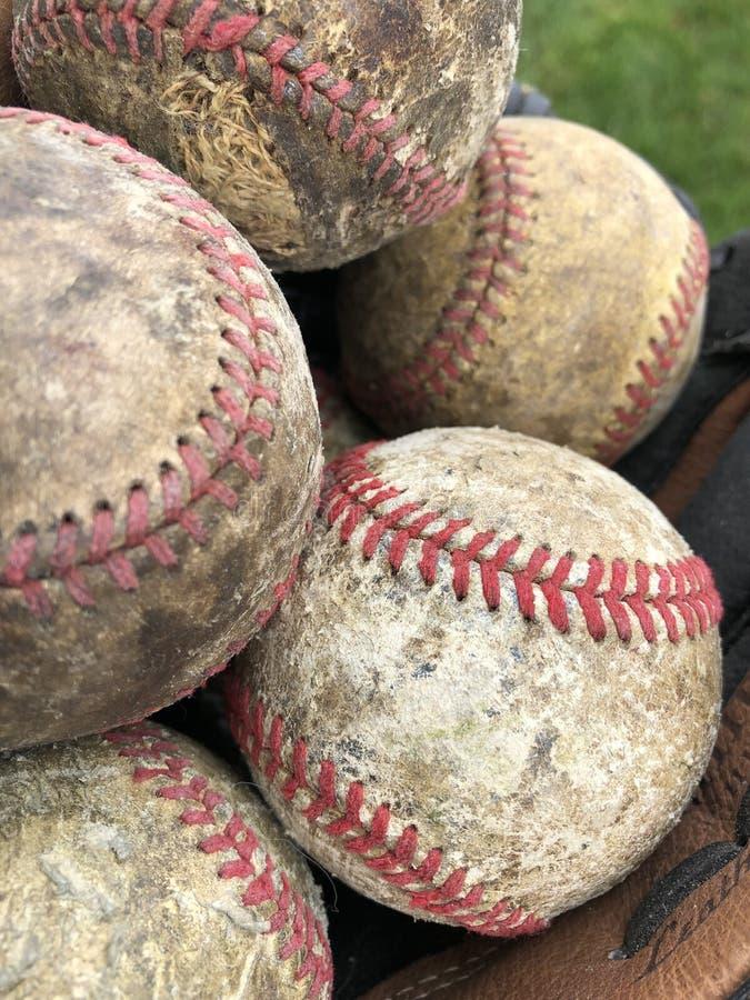 gammala baseball arkivbild