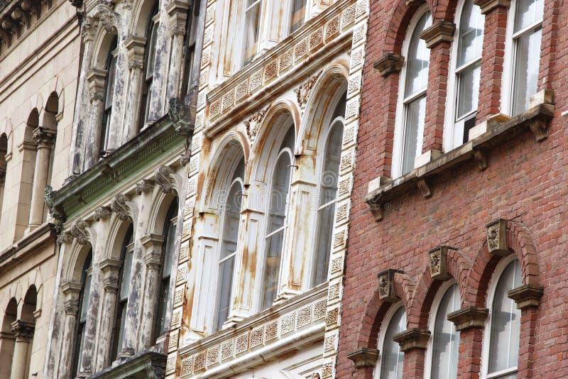 gammala facades arkivfoto