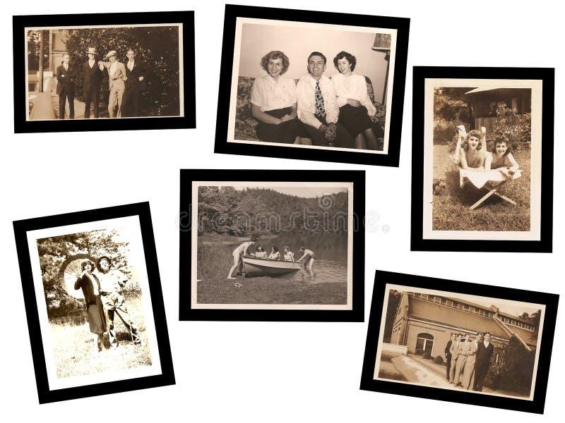 gammala foto för collage royaltyfri foto
