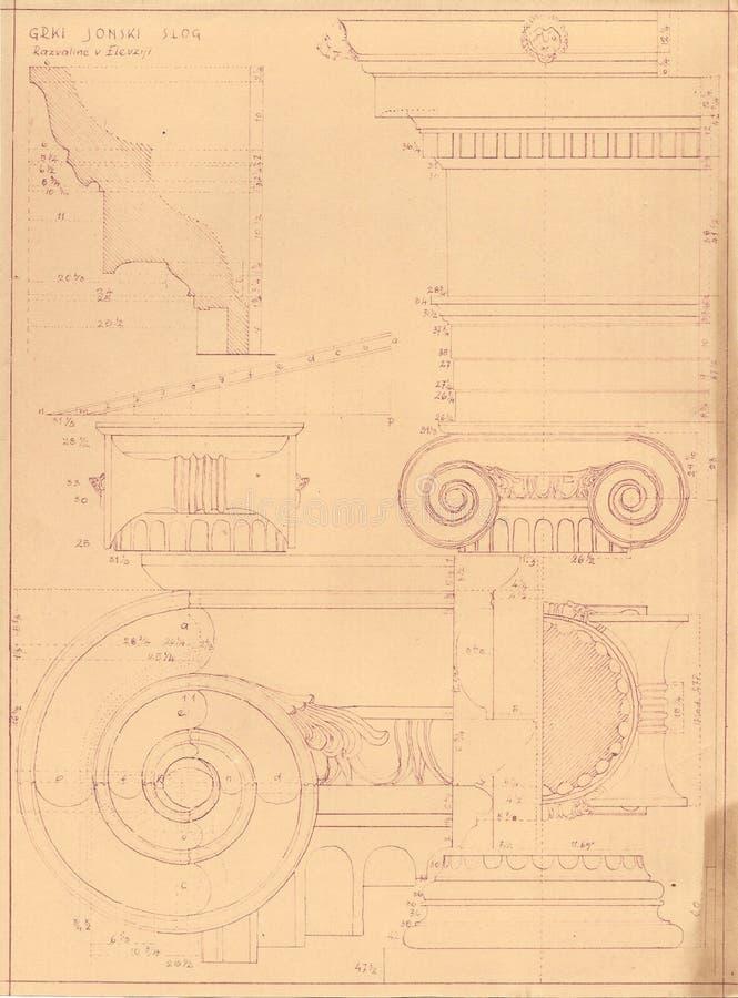 gammala greece historiemonument arkivfoton
