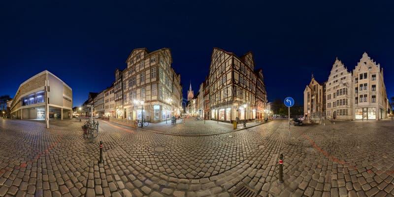 Gammala Hanover. Panorama 360°. arkivbild
