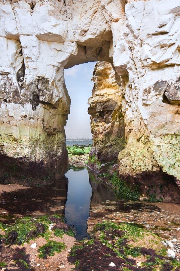 Gammala Harry vaggar Jurassic seglar utmed kusten UNESCO arkivfoto