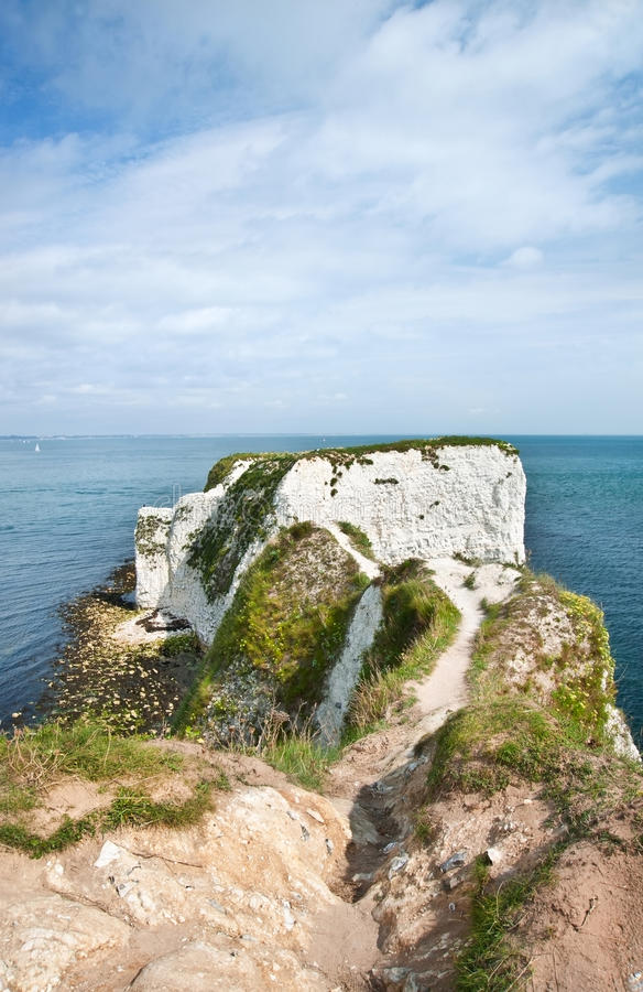Gammala Harry vaggar Jurassic seglar utmed kusten UNESCO arkivfoton