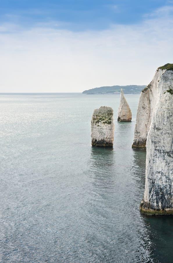 Gammala Harry vaggar Jurassic seglar utmed kusten UNESCO England arkivbild