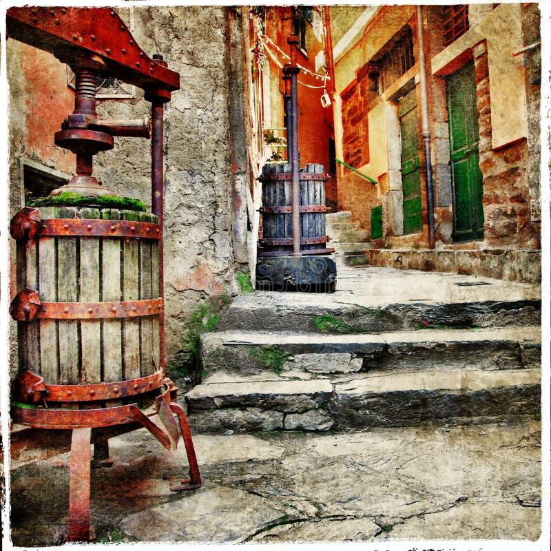 Gammala italienska gator arkivbild