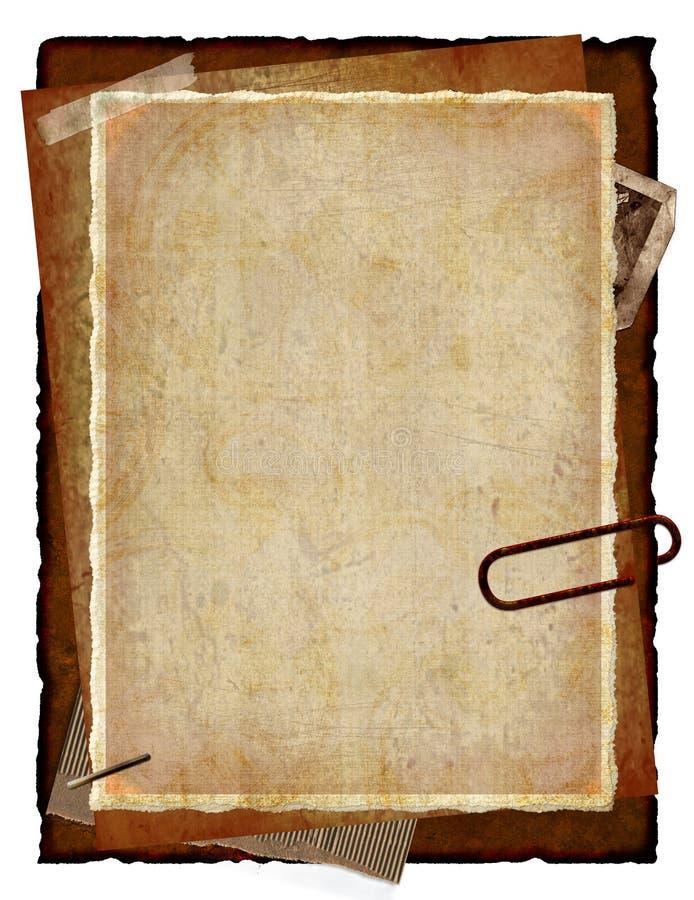gammala papperen vektor illustrationer