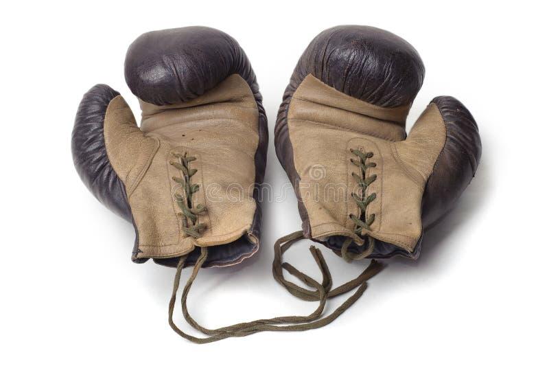 gammala par för boxninghandskar royaltyfri fotografi