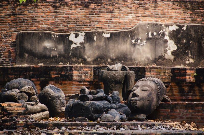 Gammala remains i ayutthaya royaltyfria bilder