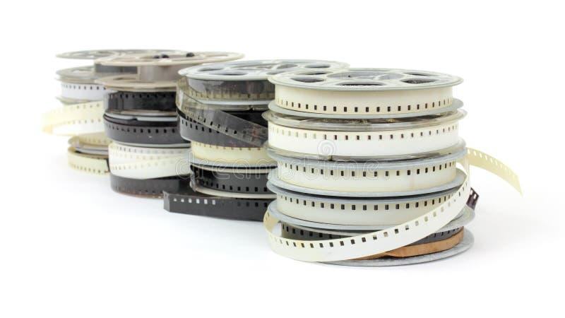 gammala rullar för familjfilm arkivbilder