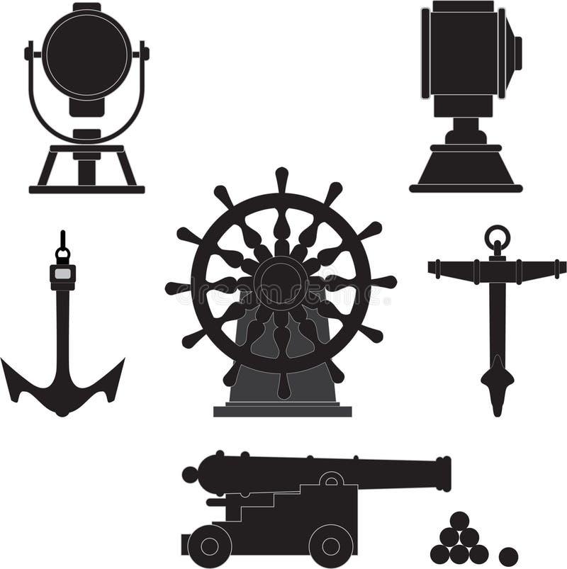 gammala ships för ålderelement vektor illustrationer